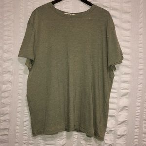 We The Free People Army Green Oversized Top